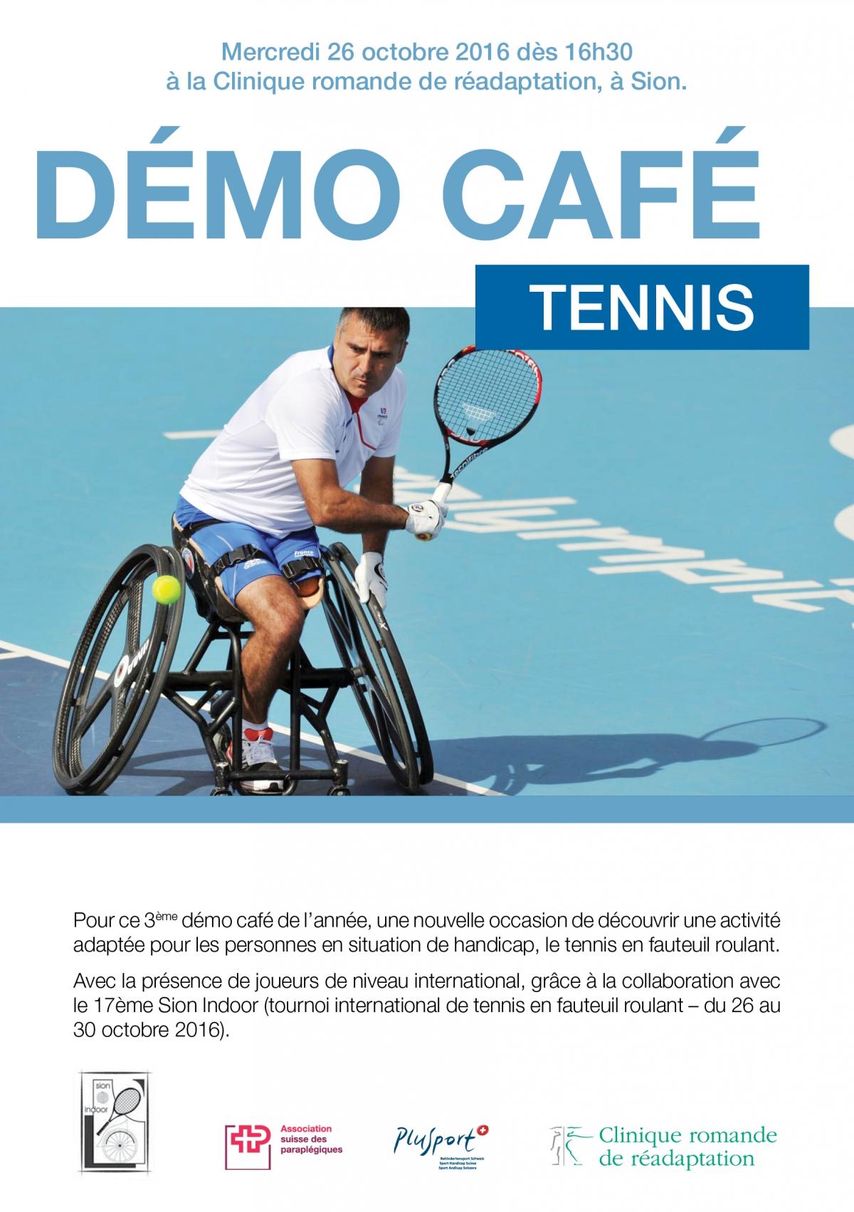 Démo Café Tennis En Fauteuil Roulant Clinique Romande De